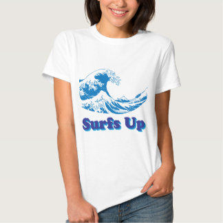 Hokusai Great Wave Surfs Up Tees