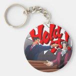 Hold It! Phoenix Wright & Miles Edgeworth Basic Round Button Keychain