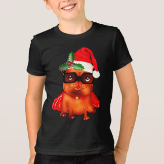 Holiday Christmas santa bulldog T Shirts