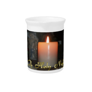 Holy Night Holiday Candle Drink Pitchers