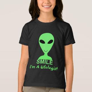 Homme vert de l'alien LGM de sourire petit Tee Shirt