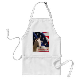 Horse With American Flag Apron