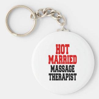 Hot Married Massage Therapist Basic Round Button Keychain