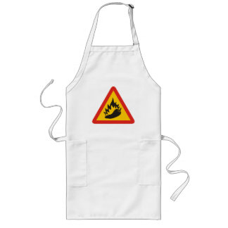Hot pepper sign long apron