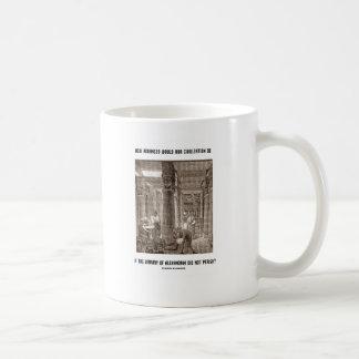 How Advanced Civilization Be If Library Alexandria Classic White Coffee Mug