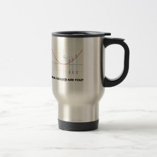 How Focused Are You? (Parabola Graph) 15 Oz Stainless Steel Travel Mug