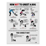 """How To Greet A Dog poster (11 x 14"""") - by Lili Chi"""