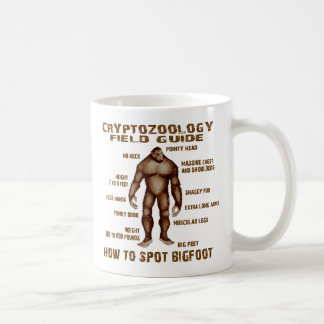 HOW TO SPOT BIGFOOT - Cryptozoology Field Guide Classic White Coffee Mug