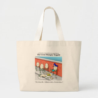 Humpty Dumpty Police Investigation Funny Gifts Jumbo Tote Bag