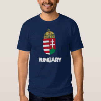 Hungary with coat of arms tshirt