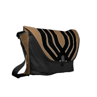 Hybrid Black (Tan) Messenger Bag