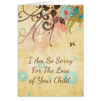 I Am So Sorry, Miscarriage or Stillborn Card