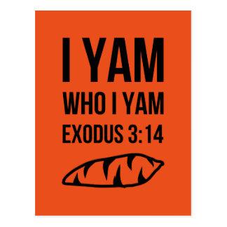 I Am Who I Am Exodus Humor Postcard