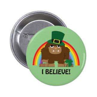 I Believe! Leprechaun Bigfoot 2 Inch Round Button