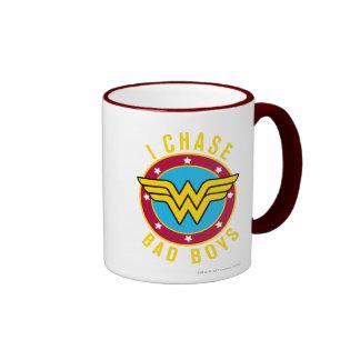 I Chase Bad Boys Ringer Coffee Mug