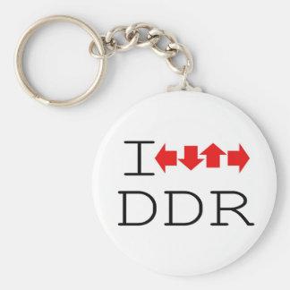 I DDR BASIC ROUND BUTTON KEYCHAIN