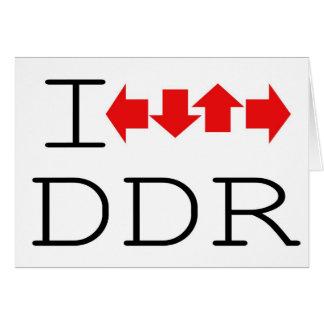 I DDR GREETING CARD