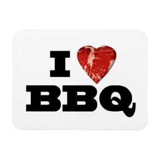I Heart BBQ, Funny Beef Steak Grill Rectangular Photo Magnet