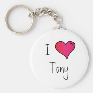 I Heart You Customizable Keychain