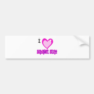 I LOVE Balance Beam Bumper Sticker