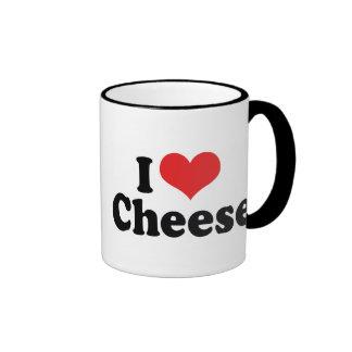 I Love Cheese Ringer Coffee Mug