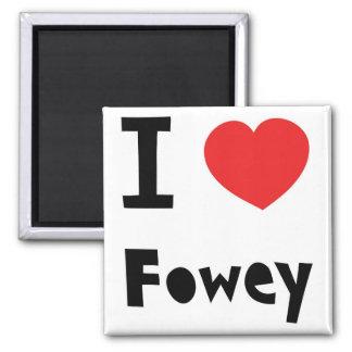 I love Fowey Square Magnet