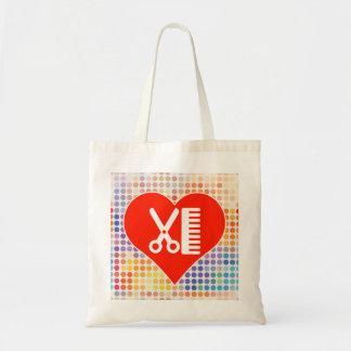 I Love Hairdresser Budget Tote Bag