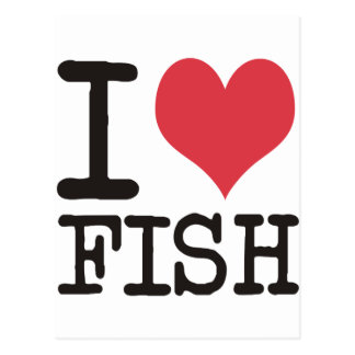 I Love Meat Food Fish Producst & Designs! Postcard