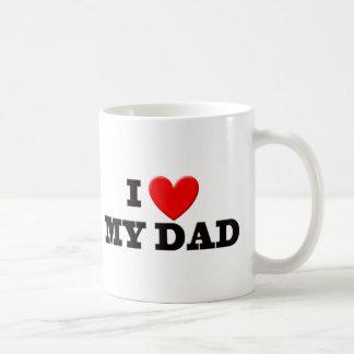 I Love My Dad Classic White Coffee Mug