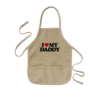 I LOVE MY DADDY KIDS APRON