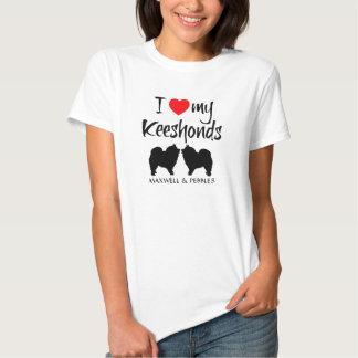 I Love My Keeshonds Tee Shirts