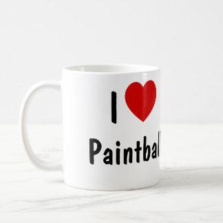 I Love Paintball Classic White Coffee Mug