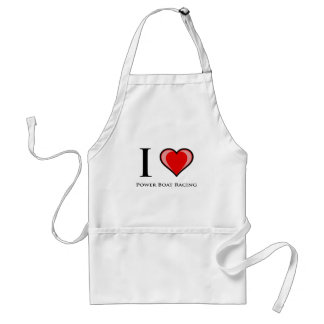 I Love Power Boat Racing Standard Apron