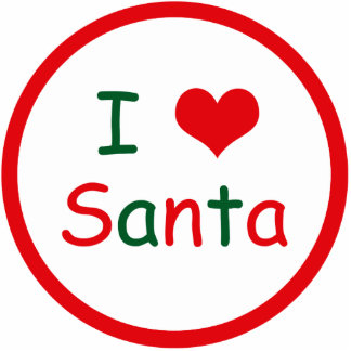 I Love Santa Photo Sculpture Keychain