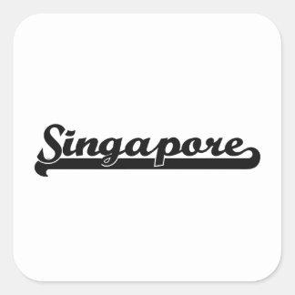 I love Singapore Singapore Classic Design Square Sticker