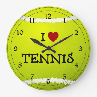 I Love Tennis - Tennis Ball Clocks