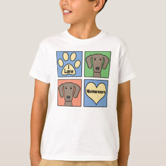 I Love Weimaraners T-shirts