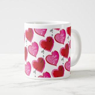 I Love You Hearts Jumbo Mug