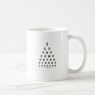 I Love You More Than Cheese Steak Classic White Coffee Mug