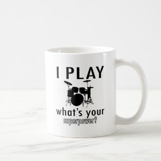 I play what's your superpower classic white coffee mug