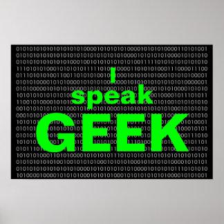 I speak Geek Poster