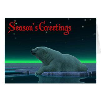 Ice Edge Polar Bear Greeting Card