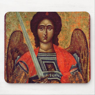 Icon of the Angel Michael, Greek, 18th century Mouse Pad