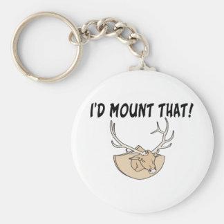 I'd Mount That Deer Head Basic Round Button Keychain