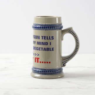 IF ONE MORE PERSON TELLS , ME I'M LOSING MY MIN... 18 OZ BEER STEIN