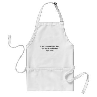"""""""if you can read this.."""" (kitchen) standard apron"""