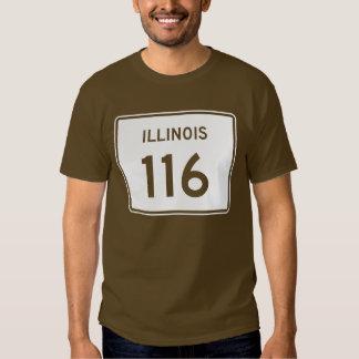 Illinois Route 116 Shirts