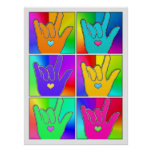 ILY (I LOVE YOU) Times Six Pop Art Poster