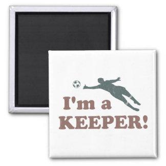 I'm a Keeper Soccer Goalie Square Magnet