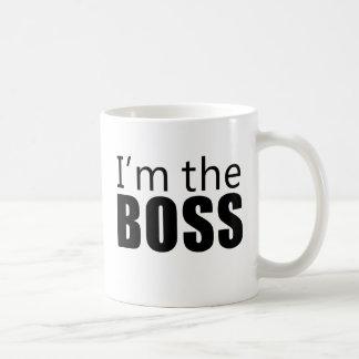 Im the Boss Classic White Coffee Mug